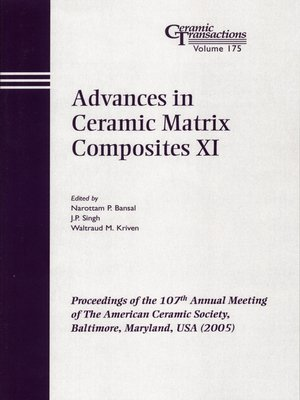 cover image of Advances in Ceramic Matrix Composites XI